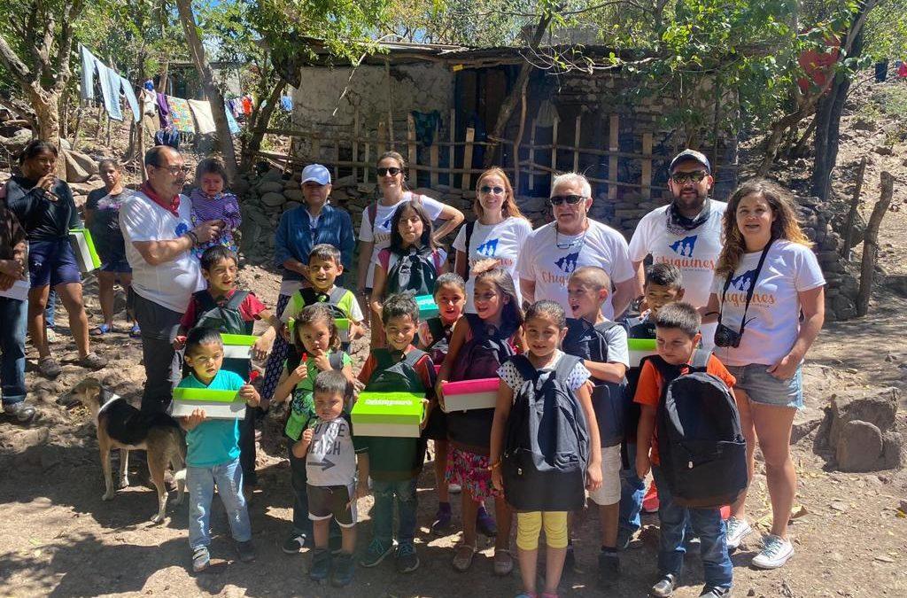 Belén y Fran, padrinos de Chigüines, visitan por primera vez Nicaragua.